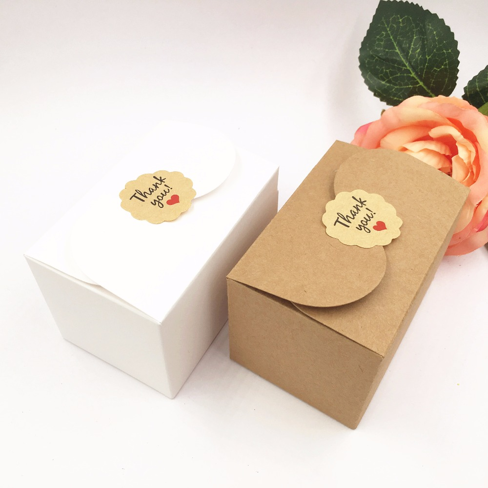 50pcs/lot Kraft Paper Wedding Favor chocolate/Candy Boxes 9*6*6cm ...