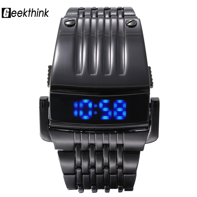 2016 Geekthink Brand Men LED Digital Military Sports Watches Fashion Outdoor Luxury  iron men Clock Male Full Steel Wristwatches