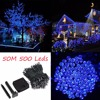 50M 500 LED Copper Wires Solar String Fairy Lights Premium Quality Solar Panel 8 Modes Lampara