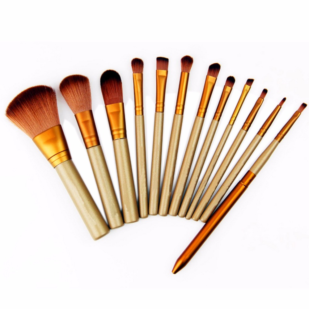 12 Pcs Beauty Essential Makeup Brushes Set Maquiagem Cosmetic Make Up Set Eyeshadow Accessories