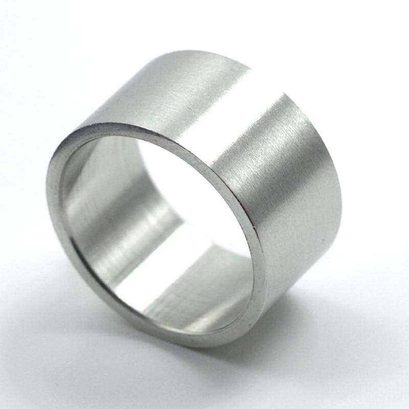 O envio gratuito de largura 12mm 316l aço inoxidável anel anéis de casamento para mulheres jóias finas titânio aço punk anéis