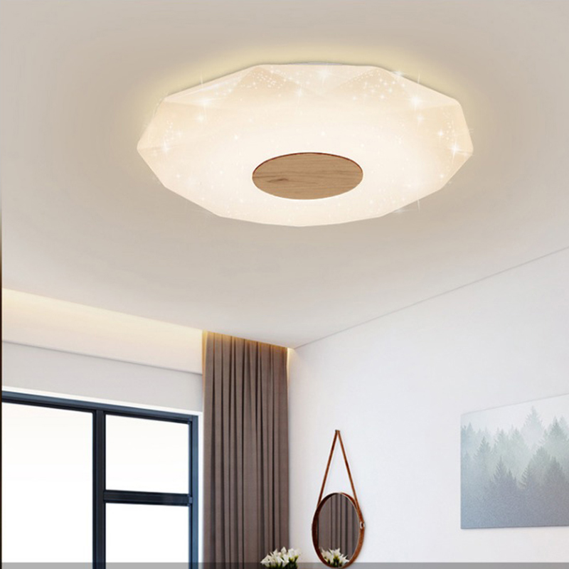 Ceiling light creative hotel bar simple dimming remote control wood Decorative dining room fixtures Modern led ceiling lampCeiling light creative hotel bar simple dimming remote control wood Decorative dining room fixtures Modern led ceiling lamp