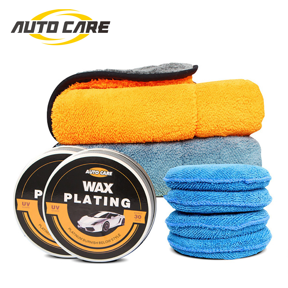 Car Wax Crystal Plating Set Waterproof High Gloss Layer Hard Wax With Microfiber Applicator And Buffing Towel Kit For Many Times