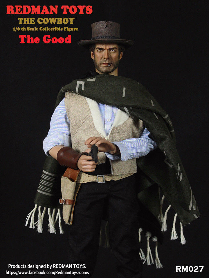 "1/6 REDMAN TOYS The Good COWBOY Joe 12"" Male Figure A Fistful Of Dollars RM027 1"
