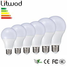 Litwod Z20 LED Lamp E27 220 V-240V Gloeilamp Smart IC Real Power 3 -15 W Hoge Helderheid Ball bulb cool white & warm white(China)