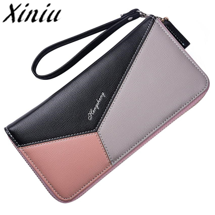 Xiniu womens wallets and purses for mobile phone Clutch Leather wallets clutch Wallet Card Holder Handbag bag female cloth #WS