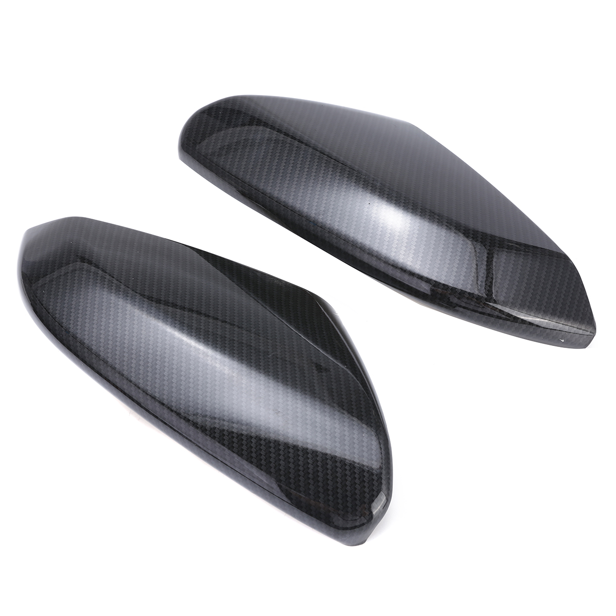 Carbon Fiber Style Rear View Side Mirror Cover Caps For Honda Civic 10th 16-18