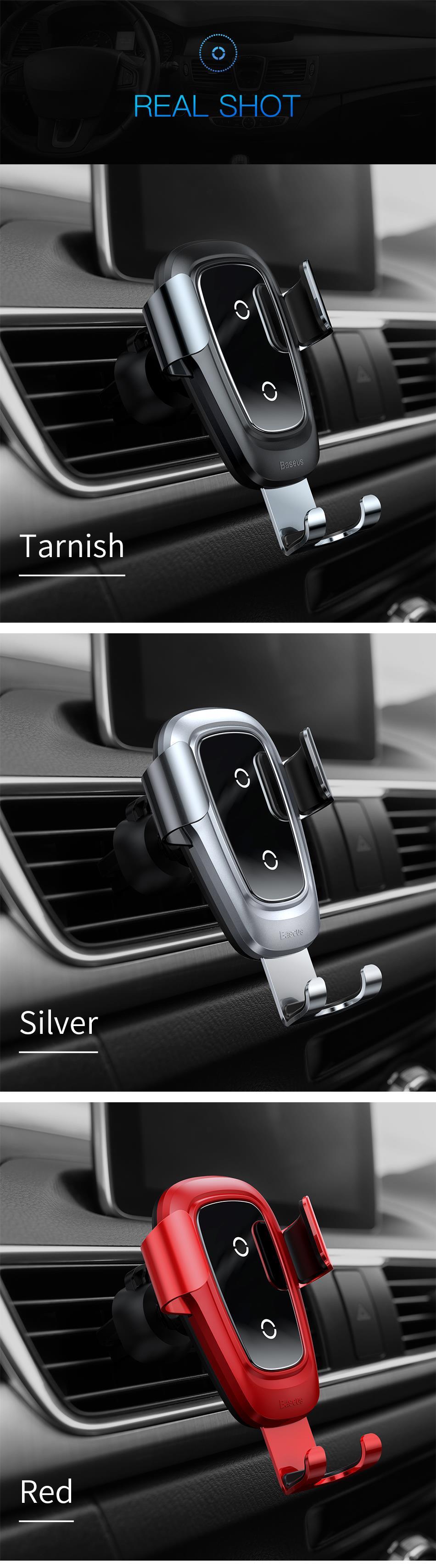 Baseus Qi Wireless Car Charger For iPhone Xs Max X 10w Fast Car Wireless Charging Holder For Xiaomi Mi 9 Mix 3 2s Samsung S10 S9 18