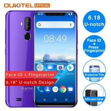 Мобильный телефон OUKITEL C12 Pro, 6,18 дюймов, 19:9, отпечаток пальца, Android 8,1, четырехъядерный процессор MT6739, 2 Гб ОЗУ, 16 Гб ПЗУ, 3300 мАч, 4 Гб, разблокировка смартфона