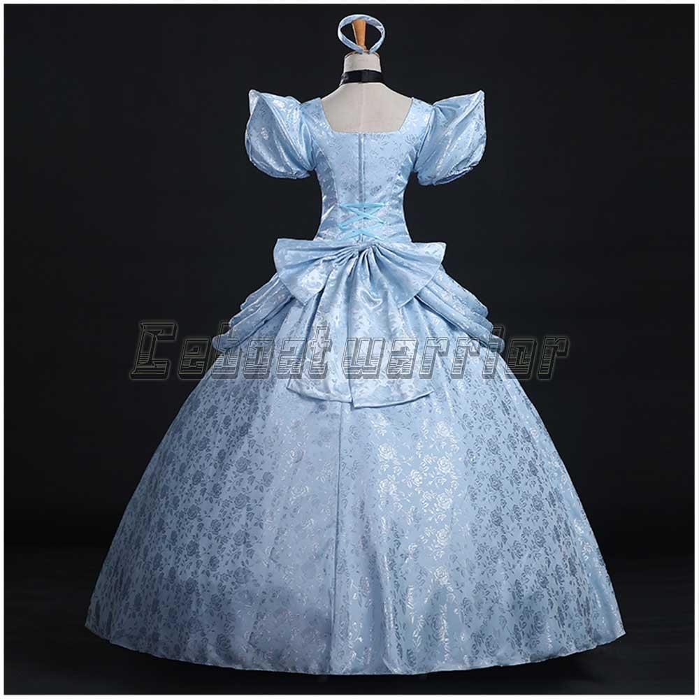Movie Cinderella cosplay costume cinderella girl adult blue wedding ...