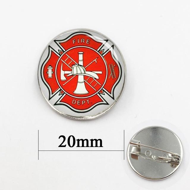 Brooch Pins Firefighter Hand Made