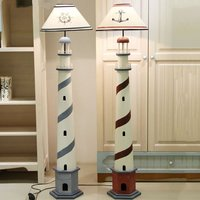 Modern Mediterranean Sea Lighthouse Floor Lamp Retro Ocean Living Room Bedroom Standing Lamp Colorful Decor Children Room Light