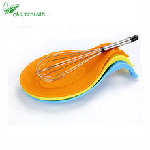 1Pc Kitchen Accessories Small Silicone Spoon Mat,Spatula European Style Spoon Pad for Kitchen Gadget Kitchen Goods Kitchen Tools
