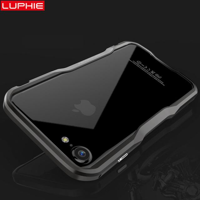 Caso original luphie aviación de parachoques de aluminio de lujo para iphone 7 cnc de corte de metal marco de la cubierta del teléfono para iphone 7 plus 7 Plus