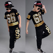 3340b0bdc6b98 Chicas chicos negro salón Jazz Hip Hop danza competencia disfraces camisa  de niño Tops ropa niños Ropa de baile traje de vestir