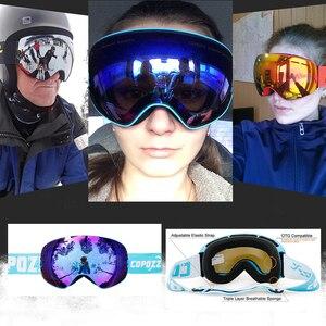 Image 5 - COPOZZ New Polarized Ski Goggles Double lens Snowboard UV400 Sneeuwbril Anti fog Ski Glasses Skiing Adult Snow Goggles GOG 201P