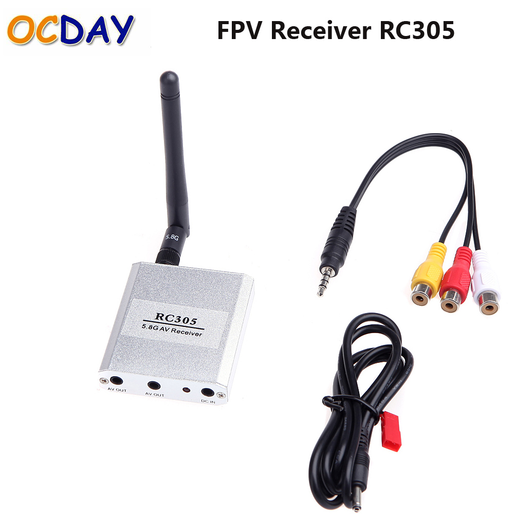 OCDAY 5.8G Wireless FPV RX Receiver 5.8GHZ 8CH Video Receiver RC305 FPV TX Transmitter boscam 5 8ghz 200mw 8 channel image transmission fpv audio video transmitter receiver ts351 rc305 for fpv transmission