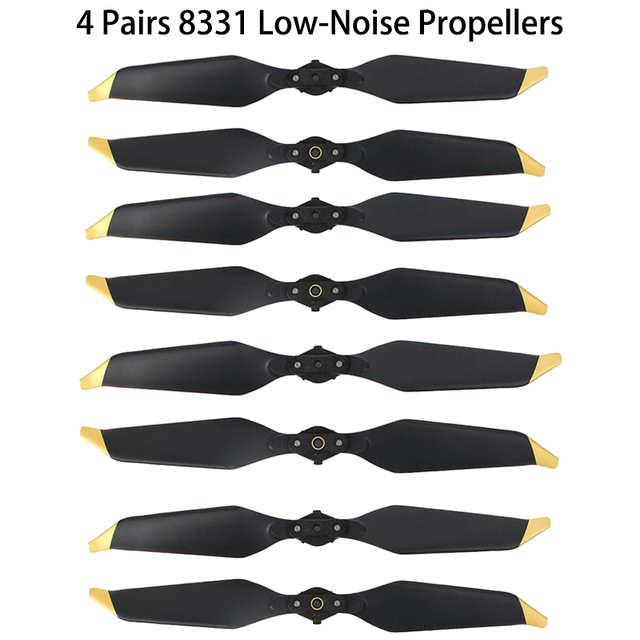 4 Pairs DJI Mavic Pro Platinum 8331 Low Noise Quick-Release Propellers for...