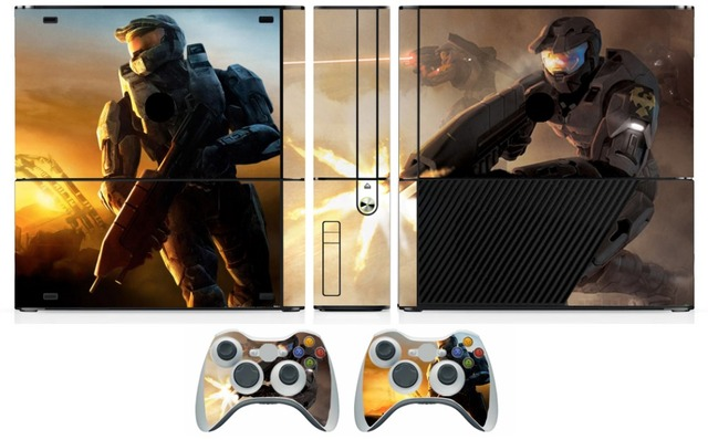 US $6 39 |001 Halo 3 Vinyl Skin Sticker Protector for Microsoft Xbox 360 E  and 2 controller skins Stickers for XBOX360 SLIM E-in Stickers from