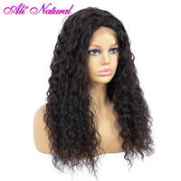 Malaysian Water Wave Lace Front Human Hair Wigs Front Lace Wigs With Baby Hair Pre Plucked Natural Hairline 150% Remy Hair