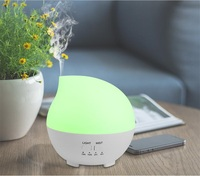 2017 New Arrival Water Drop Style Humidifier Aroma Diffuser 7 Colors Time Changing Night Light Household