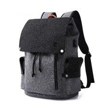 Mens Backpacks Mochila For 15 Inch Laptop USB Backpack Fashion Stundet Schhol bag Teens Backpack Water Repellent Rucksack women
