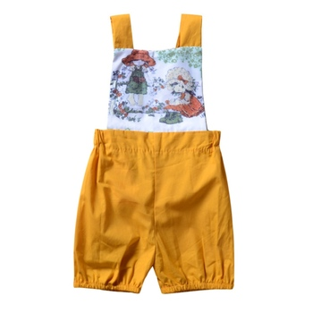 2018 Summer Baby Girls Casual Jumpsuit Infant Kids Printed Sleeveless Bodysuit New-arrival Fashion Clothing For 0-18M H1