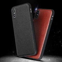 Luxury Phone Case For Xiaomi Mi 9 6 8 SE Explorer A1 5X Max 3 Mix 2S Litchi Lychee Texture Original Cowhide Back Cover