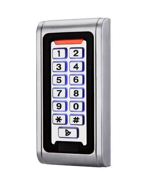 LED Système de Contrôle D'accès Clavier RFID 13.56 mhz Carte De Proximité Autonome 2000 Utilisateurs Porte de Contrôle D'accès En Métal Cas