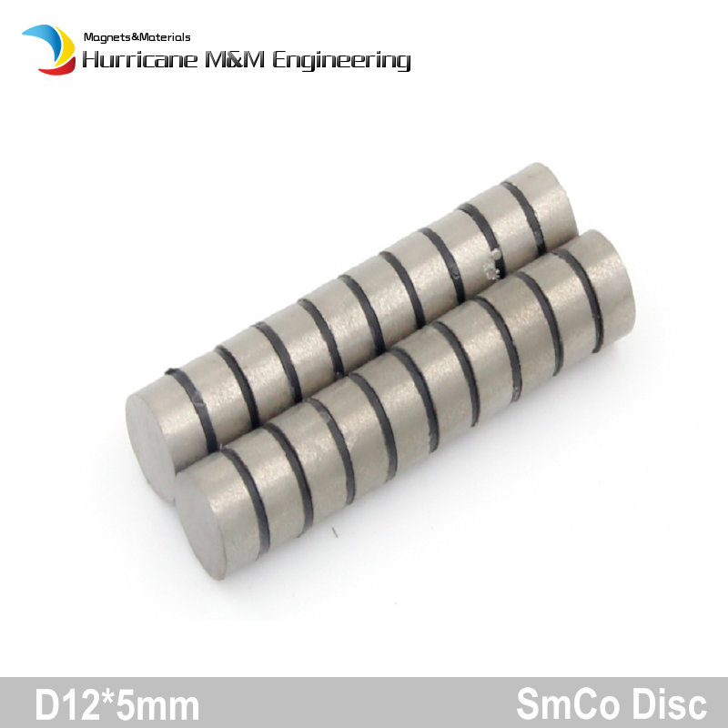 1 pack SmCo Magnet Disc Diameter 12x5 mm 0.47'' Grade YXG24H 350 Degree C High Temperature Permanent Magnets Rare Earth Magnets 1 pack smco magnet thin disc diameter