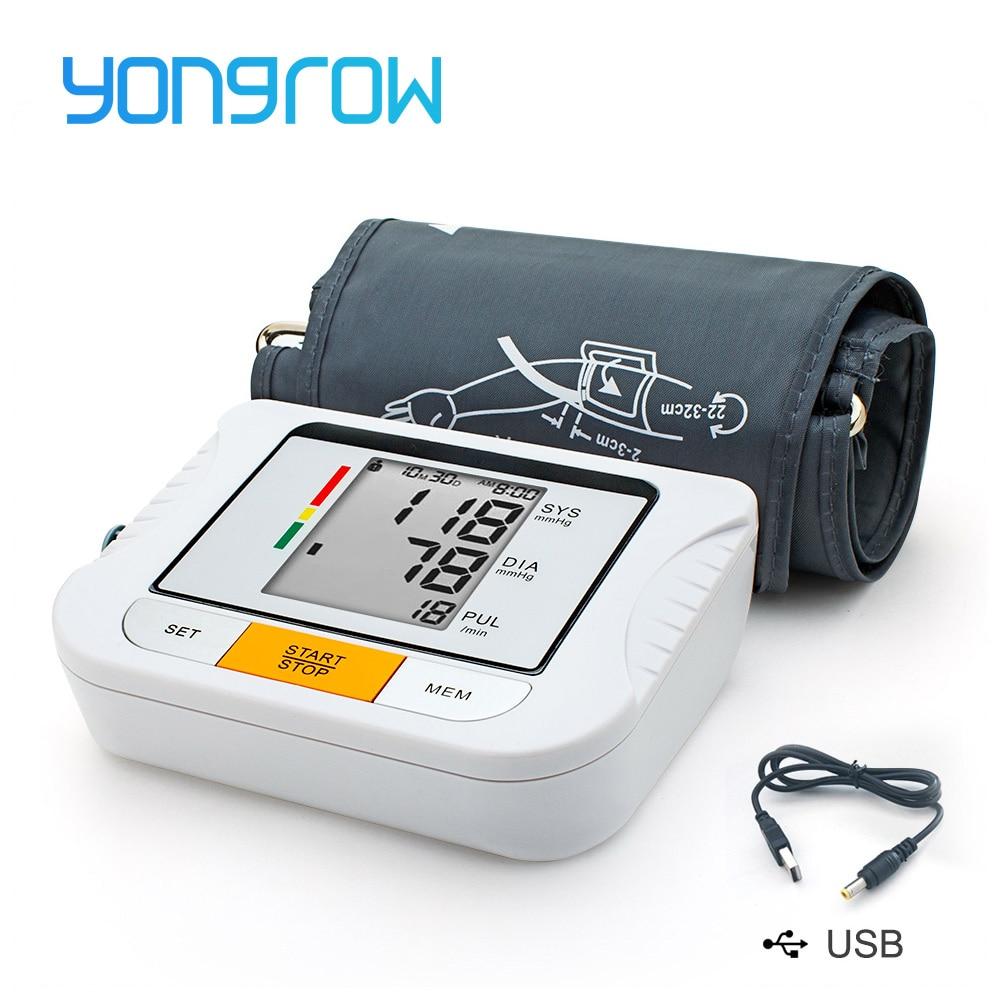 Yongrow Monitor della Pressione Arteriosa Tonometro Completamente Automatico Digitale Superiore del Braccio di Pressione Sanguigna Monitor BP Monitor