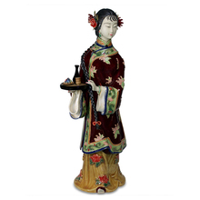 Chineses Style Collectibles Ceramic Laddy Sculptures Female Dolls Antique Statues Glazed Figurine Porcelain Christmas Art Sale collectibles glazed ceramic dolls laddy sculptures chinese female statues figurine christmas gifts chinese traditional art