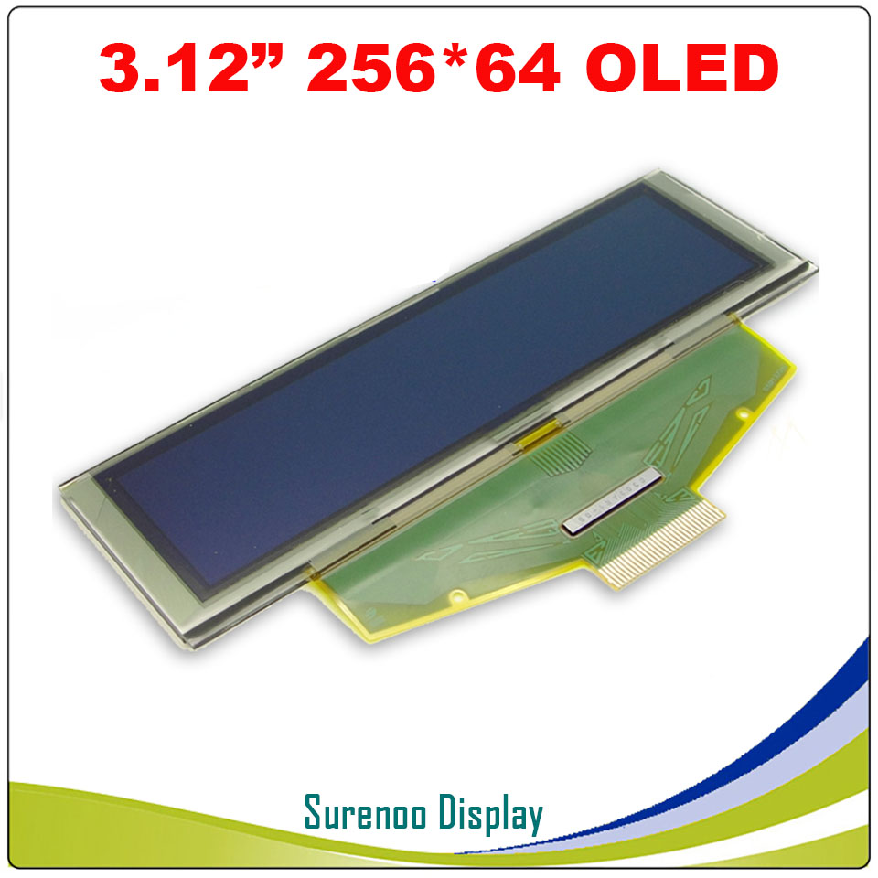 """Image 5 - Real OLED Display, 3.12"""" 256*64 25664 Dots Graphic LCD Module Display Screen LCM Screen SSD1322 Controller Support SPILCD Modules   -"""