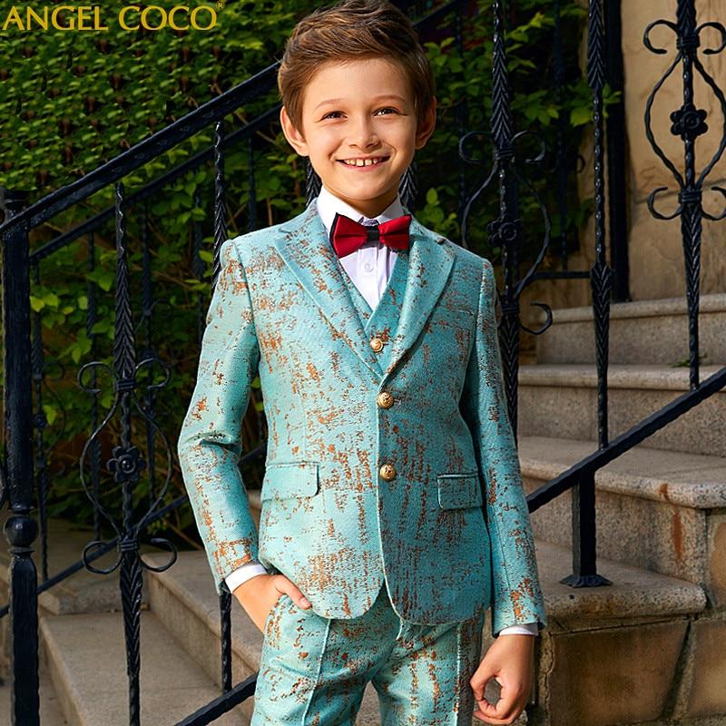 Blue Blazers For Boys Suits Blazers British Children s Dress Boys Suits For Weddings Performance Suit