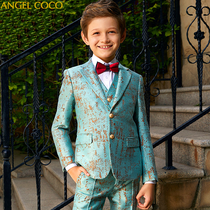 Blazers For Boys Suits Blazers British Children's Boys Suits For Weddings Performance Suit Costume Garcon