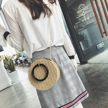 Fashion Ladies Handbags Small Female hand-held Shoulder Messenger bag Mini tote bags for women Circular Woven hand