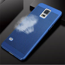 купить Ultra Slim Grid Heat Dissipate Case For Samsung Galaxy S6 S7 S8 edge plus on5 on7 S5 I9600 PC cover For Samsung Note 3 4 5 8 по цене 103.62 рублей