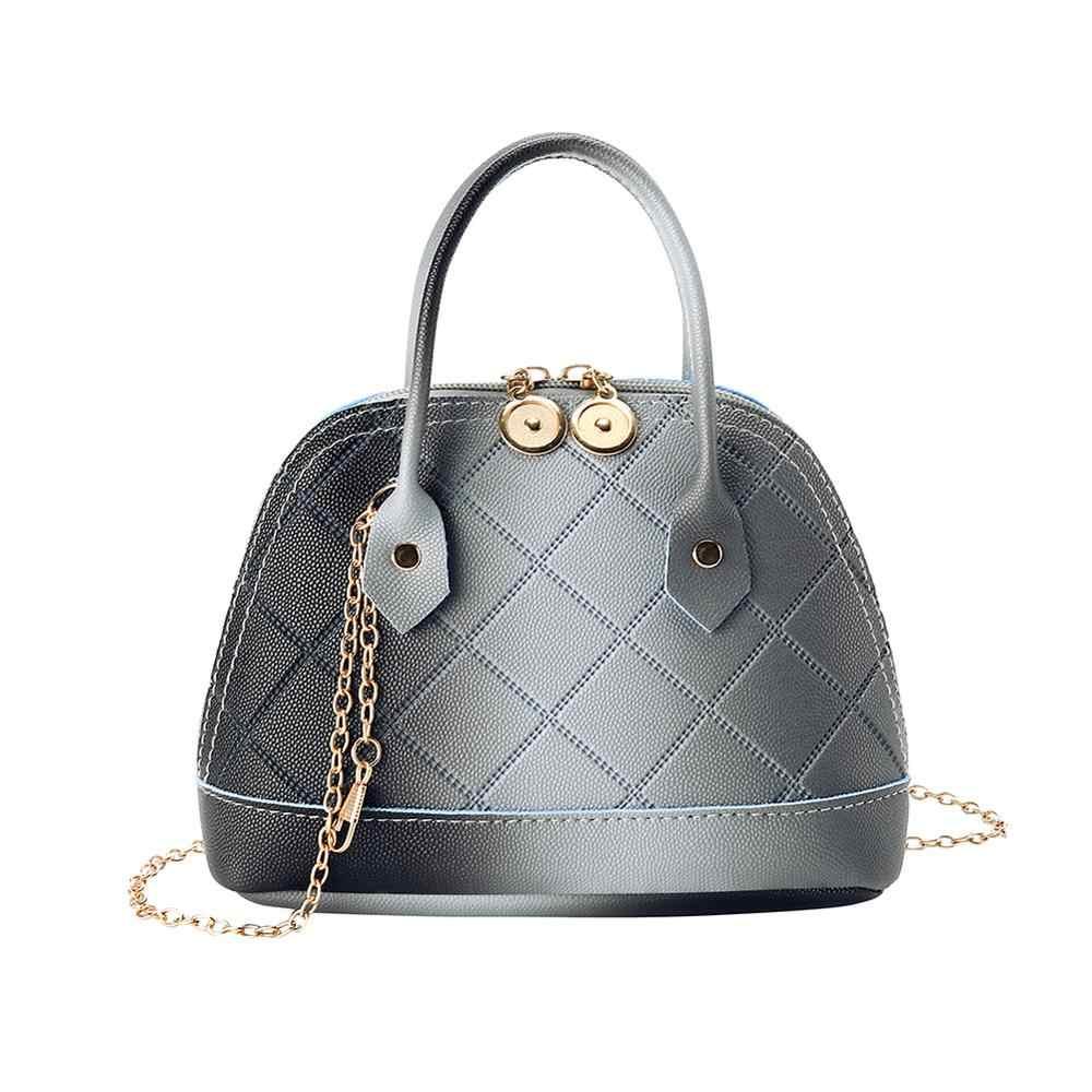 Fashion Shell Crossbody Tote Top-handle Bags PU Leather Shoulder Handbags for Women Ladies Chain Messenger Bag Bolsas Feminina