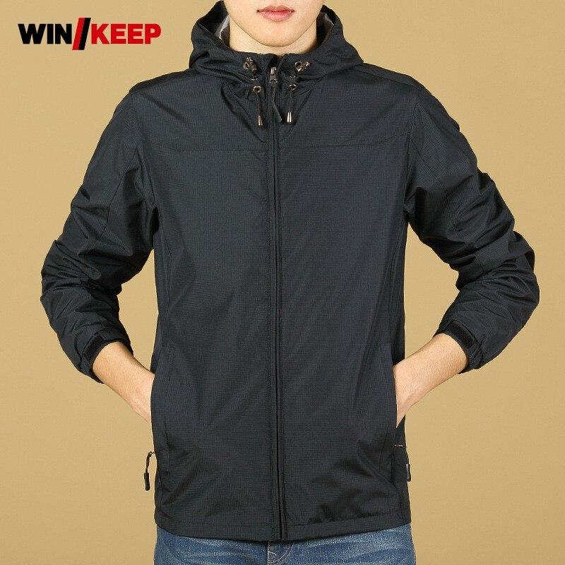 Automne nouveau hommes veste Windstopper Softshell veste mâle à capuche randonnée voyage vêtements d'extérieur manteau imperméable Sportswear Camping vestes