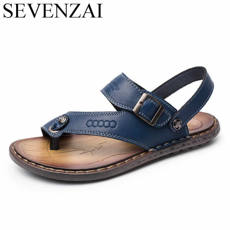 bb4f1660be785 Detail Feedback Questions about sandals mens summer leather leisure ...