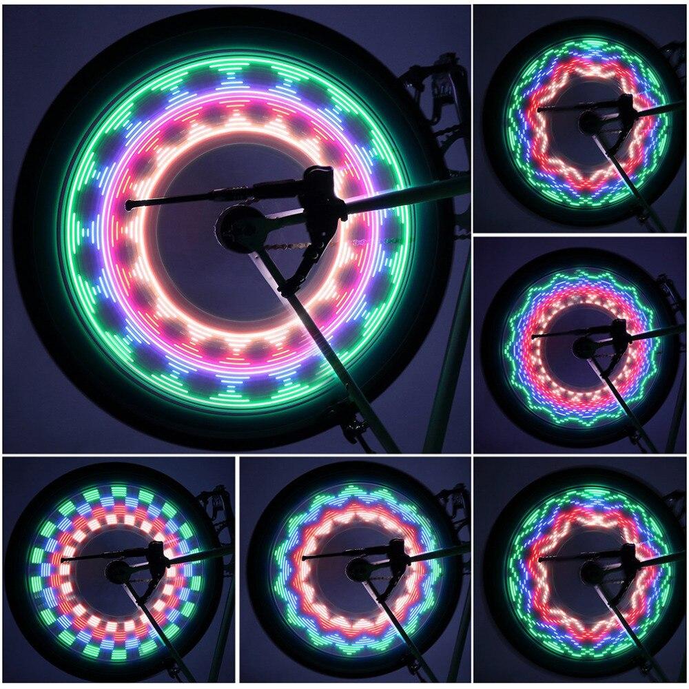 2pc Safety LED 32 Modes Bike Spoke Warning Light Waterproof Bicycle Wheel tyre flashing light Signal Lamp Reflective Rim Rainbow2pc Safety LED 32 Modes Bike Spoke Warning Light Waterproof Bicycle Wheel tyre flashing light Signal Lamp Reflective Rim Rainbow