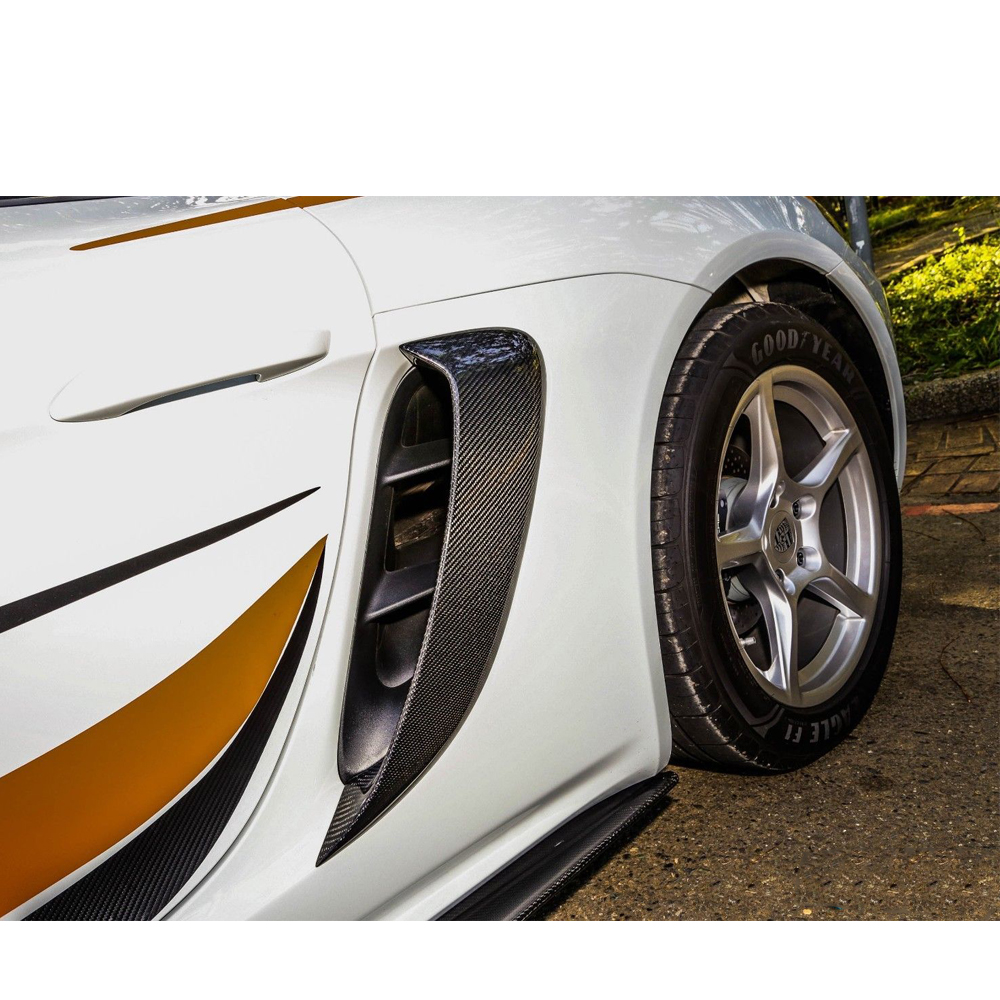 Боковые вентиляционные отверстия из углеродного волокна 718 для Porsche 718 Boxster Cayman 2018 2016 carbon fiber refit side