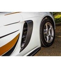 718 carbon fiber side air vents for Porsche 718 Boxster Cayman 2016 2018 carbon fiber refit side