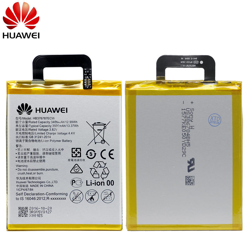 Image 2 - Hua Wei Original Phone Battery HB376787ECW For Huawei Honor V8 3400/3500mAh Replacement Phone Batteries Free Tools-in Mobile Phone Batteries from Cellphones & Telecommunications