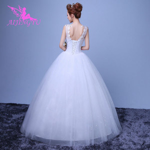 Image 4 - AIJINGYU 2021 gowns new hot selling cheap ball gown lace up back formal bride dresses wedding dress WK659