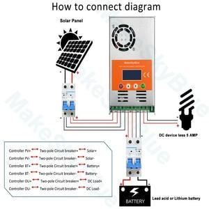 Image 4 - Makeskyblue 50a mppt controlador de carga solar max 160 v 2200 w pv entrada display lcd automático para 12 v 24 36 v 48 v sistema v119 wifi