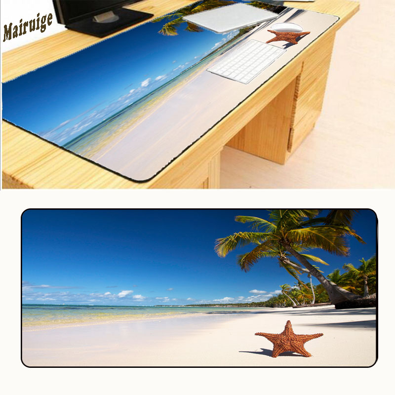 Mairuige Beautiful Sea Hot Big Game Mouse Pad 900 * 400 High Quality with Speed Lock Edge Game Version Keyboard Pad for Player