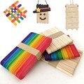 2017 Новый Стиль Дети Деревянный Popsicle Stick Ремесел Искусства Мороженое DIY Делая Смешные Игрушки Включают 50 шт. P1