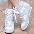 2016 Весна Лето Женщины Мода Обувь Женщина Увеличение Высоты Обувь Женщина Платформы Бездельники Высокие Одиночные Обувь
