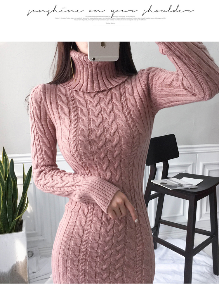 Autumn Sweater Dress Women